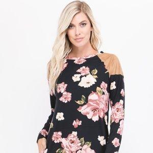 Dresses & Skirts - Flirty Floral Dress Long Sleeves